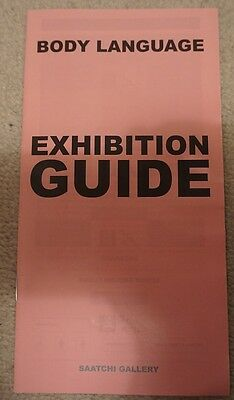 Saatchi Gallery Body Language London Paper Exhibition Guide / Booklet
