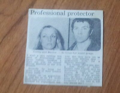 Lewis Collins Bodie The Professionals + Fiance Marion Sheffield Article/Photo