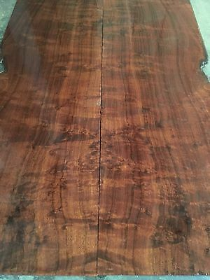 Ringed / Quilted Gidgee Guitar Back And Sides Set. Luthier