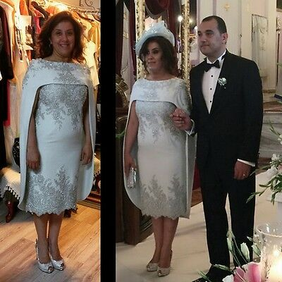 Satin Beaded Plus Size Mother Of The Bride Dress/Suit With Jacket Formal Dresses