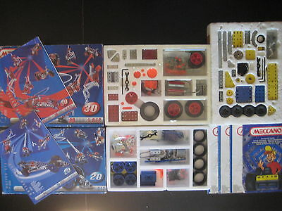 3in1 Meccano Motion System 20 30 - 6520 7530 - 1992 1998 - Motor Lot Bundle Box