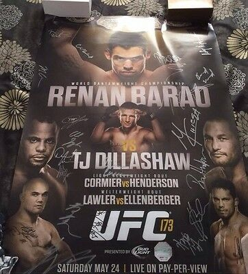 UFC 173 SIGNED POSTER 63 of 125