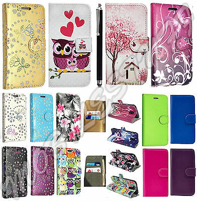 For Vodafone Smart Turbo 7 New Leather Flip Wallet Phone Card Case Cover+ Stylus