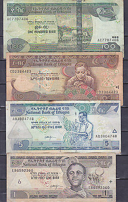 Ethiopia .lot Of 4 Bank Notes.