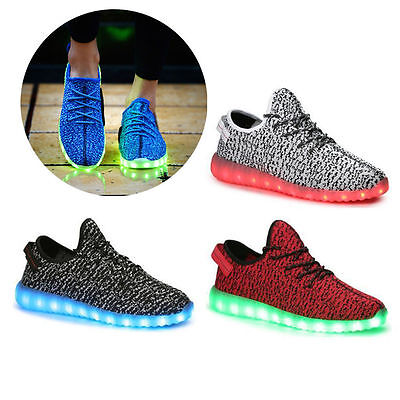 Unisex LED Light Lace Up Luminous Shoes Sportswear Sneaker Casual Shoes