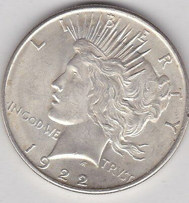 Usa 1922 Silver Peace Dollar In Extremely Fine Condition