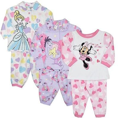 Disney Cinderella Baby Girls Pyjamas (PJ's) - Genuine Licensed - FREE Postage
