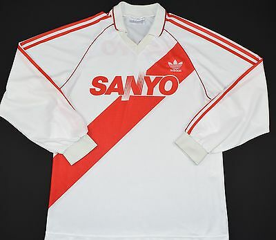 1992-1994 River Plate Adidas Home Football Shirt (Size M)