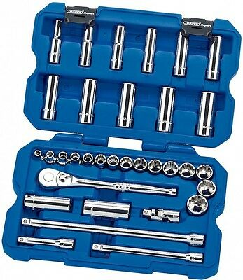 "Draper 02352 Expert 33 Piece 3/8"" Sq Dr Metric Socket Set 3/8 Inch Drive"