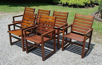Fantastic Set Of 6 * s2dio * Outdoor Garden Chairs * Patio Chairs
