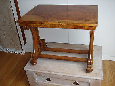 Victorian Walnut Occasional Table C.1850 (coffee/whatnot/music/canterbury/side)
