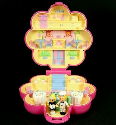 *COMPLETE* Polly Pocket 1990 MR FRY'S RESTAURANT Vintage Bluebird Retro Mini Old