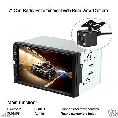 HD Touch Scree Car Stereo MP5 Player MP3 Radio Bluetooth USB AUX Parking Camera
