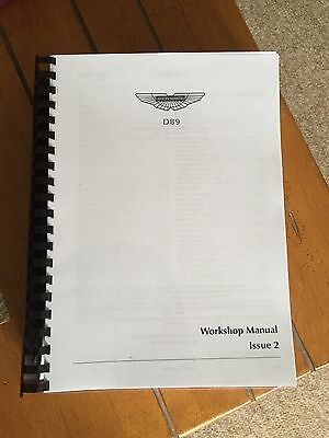 ASTON MARTIN DB9 WORKSHOP MANUAL REPRINTED A4 Comb Bound. 2004-2011