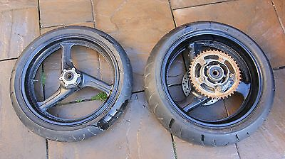 Pair Of Wheels Honda Cbr600 Fx Fy 98-01 Front And Rear