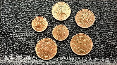 Lithuania Euro coin 2015. 6 pcs. 1.2.5 cents.