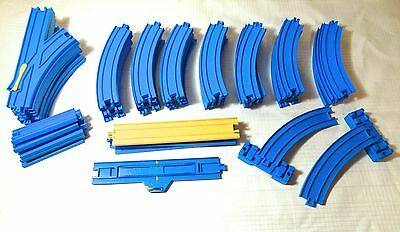 Lot of 54 TOMY - Thomas the Train - Blue Track - Straight Curved Switches