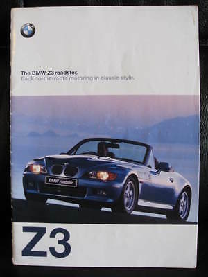 Original 1997 BMW Z3 Brochure - A4 Size with 35 pages