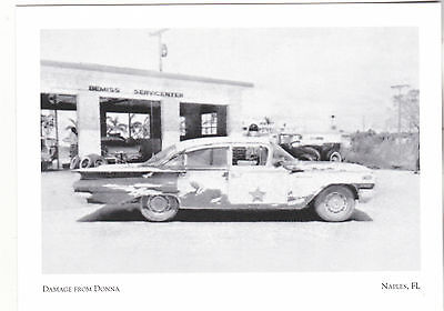 "*Postcard-""Police Car Damaged by Hurrican Donna"" -1960-  Naples, Florida (#241)"