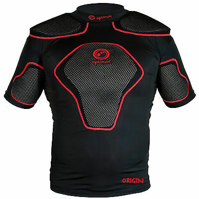 25.99 NEW small mens OPTIMUM Origin Rugby Bod Protection Shoulder Pads FREEPOST