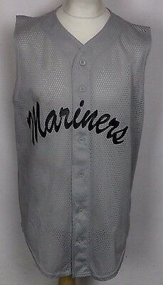 Vintage Mariners Baseball Jersey Shirt Mens Xl Teamwork Sleeveless