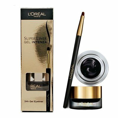 L Oreal Super Liner Gel Intenza 02 Golden Black Eyeliner Tenue 24 Heures Pinceau