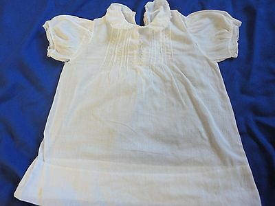 Vintage Antique White Cotton Baby Dress AS IS