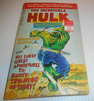 Incredible Hulk Paperback 1966 Marvel Lancer Books Jack Kirby Excellent Cond.