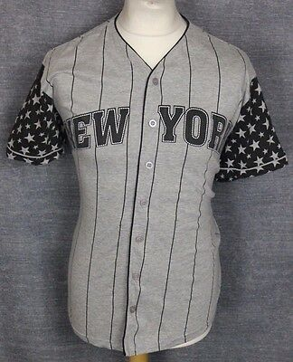 New York Vintage American Garage Baseball Jersey Mens Medium