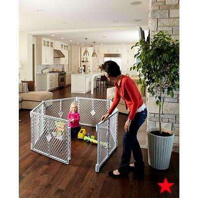 Baby Play Yard Safety Gate Portable Play Pen 6 Panels Easy Setup Light Sturdy