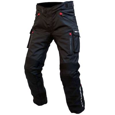 Armr Moto Tottori Evo Men's Motorcycle Textile Trousers Black Waterproof Pants