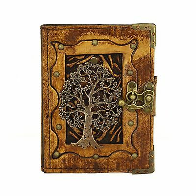 Tree of Life  Brown Handmade Leather Journal Notebook Diary Sketchbook Book