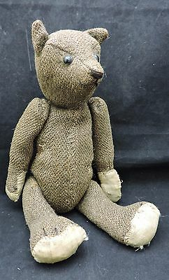 Early Articulated/Jointed Mohair Teddy Bear With Shoe Button Eyes