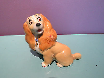 Vintage Wade Porcelain Disney Disneys Blow Up Large Lady And The Tramp Lady MINT