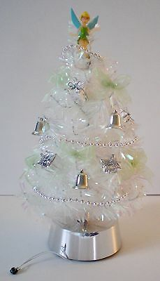 Disney Tinker Bell Iridescent Christmas Tree With Lights And Music Plays 3 Songs