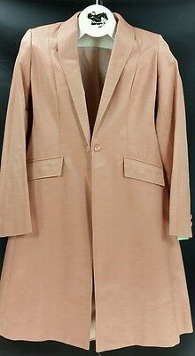 0d92a117ba0 Reed Hill Saddleseat Day Coat CORAL   PEACH Cotton Teflon size 8   10 - USA