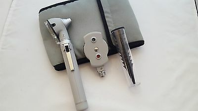 Fiber Optic Otoscope Ophthalmoscope ENT Medical Diagnostic Examination Set