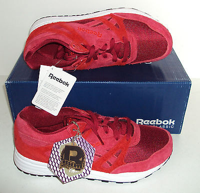 REEBOK Men's Ventilator Red Suede Running Trainers Shoes New Size UK 7.5