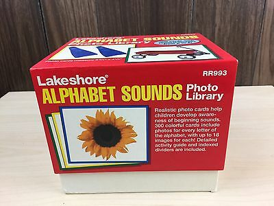 Lakeshore Learning Alphabet Sounds Photo Library 300 Cards Early Education RR993