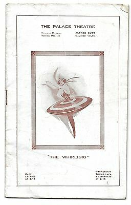 Vintage 1919 PALACE Theatre The WHIRLIGIG Art Deco Alfred Butt  Programme rare