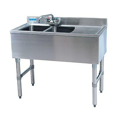 "Bk Resources 36""wx18-1/4""d Stainless Steel Slimline Underbar Sink - Bkubw-236Rs"