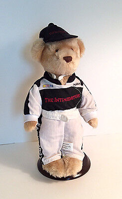 Dale Earnhardt Sr Plush Teddy Bear on Stand Avon Collectible NASCAR Auto Racing