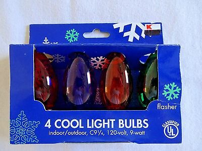 Lot of Three 4-Pack Multicolor C9 1/4 Replacement Flasher Christmas Light Bulbs