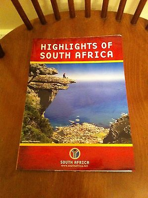 2003 Highlights Of South Africa Map Facts Points Of Interest Collectible Poster