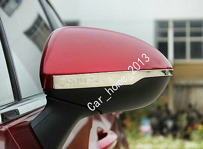Car stainless steel side mirror moulding cover trim For 2017 2018 Chevy Cruze