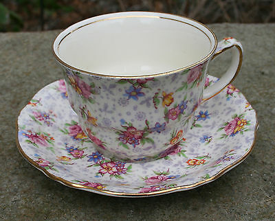 ROYAL WINTON CHINTZ - Vintage Eleanor Athena Cup and Saucer
