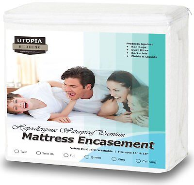 Bedding  Zippered Waterproof Mattress Encasement Cover with Bed Bug Protector