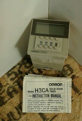 Omron Timer H3CA-8  8 Pin 200/220/240 VAC 12 VA Max 3A  - NEW IN BOX      4B