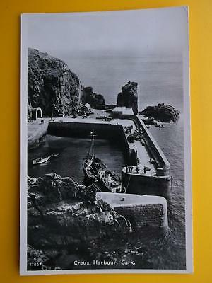 Large Steam Ship in Creux Harbour SARK Channel Islands RP 1952
