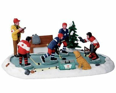 Lemax Table Accent New 23969  HOCKEY TRYOUTS New 2016